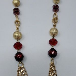 Red/Gold Kim Rogers necklace